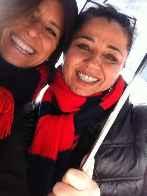 Etta e Cristina allo stadio