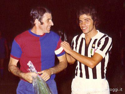 Paolo Beni e Franco Causio. Foto tratta da www.rivieraoggi.it
