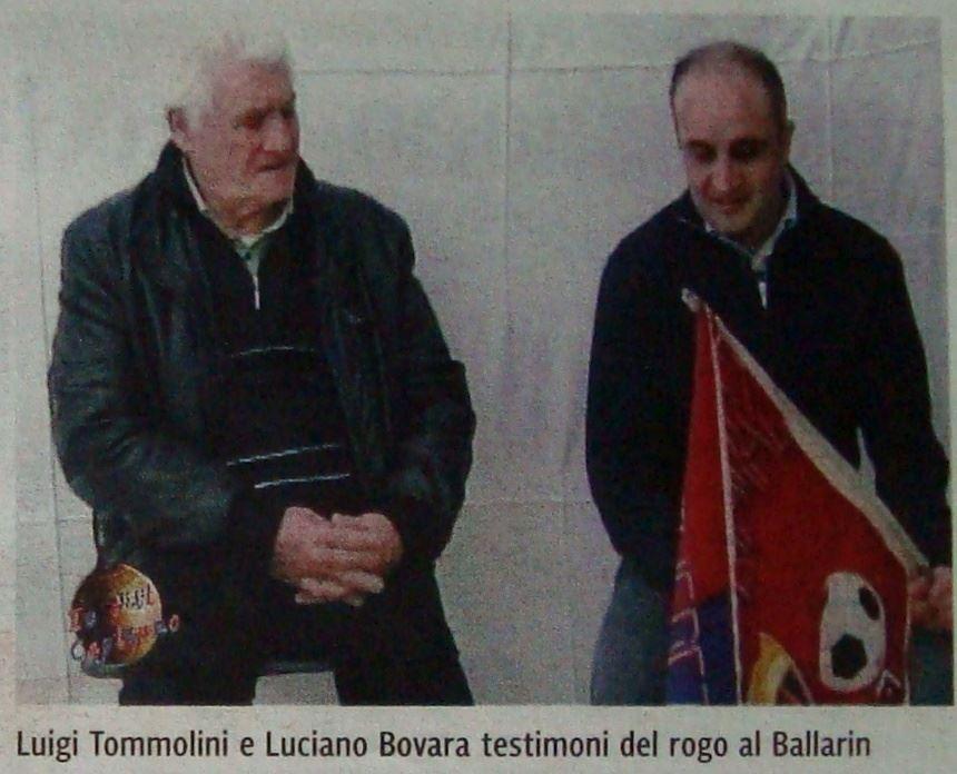 Luigi Tommolini rogo Ballarin
