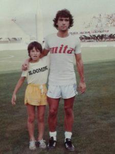 Mauro, il figlio di Bruno, insieme a Stefano Borgonovo