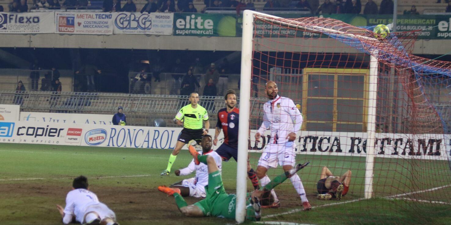 Samb-Gubbio, gol di Rapisarda