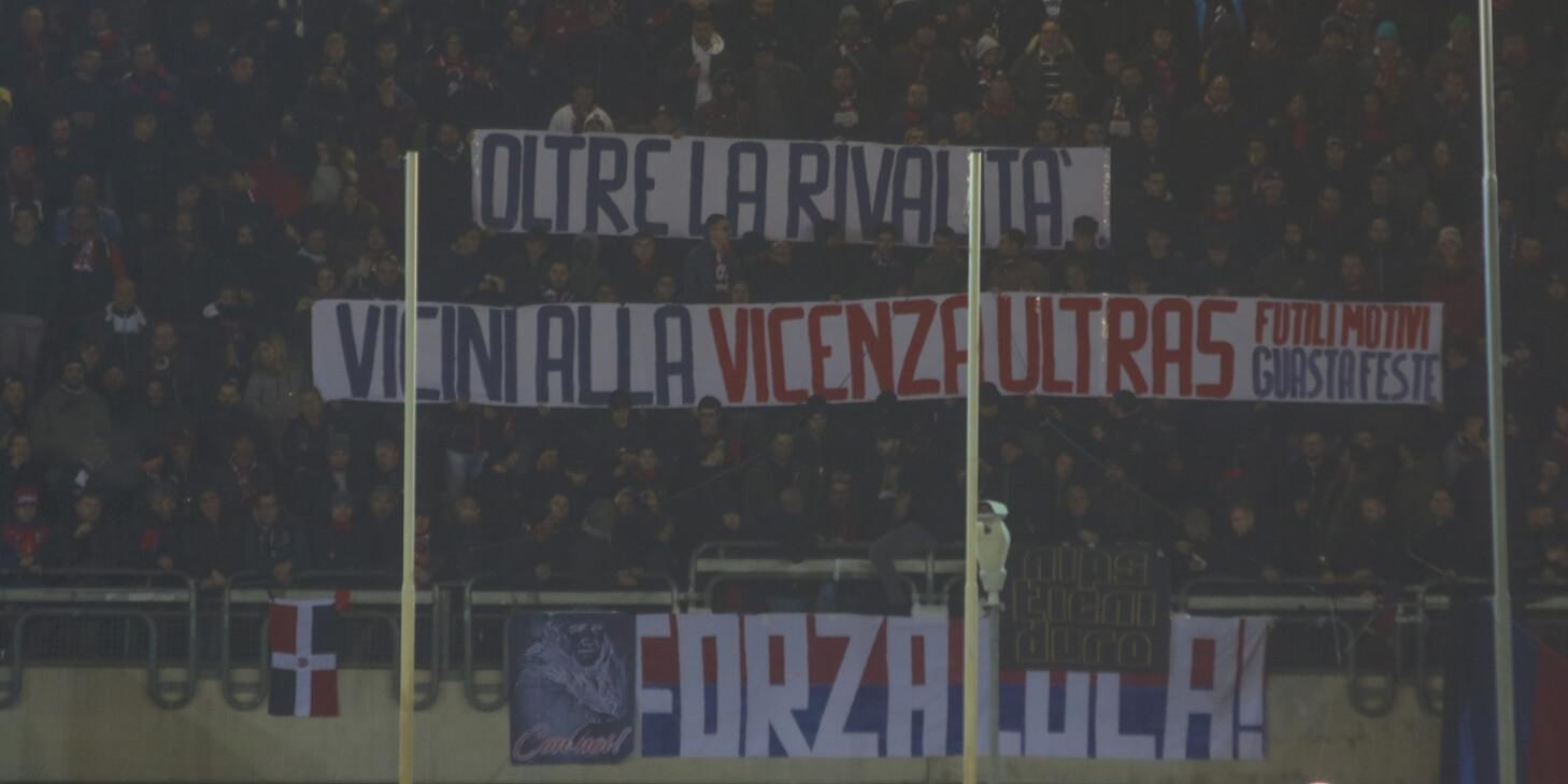 Samb-Gubbio, lo striscione per i tifosi del Vicenza